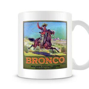 Bronco Vintage Label – Printed Mug