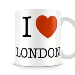 Decorative I Love London Ideal Gift – Printed Mug
