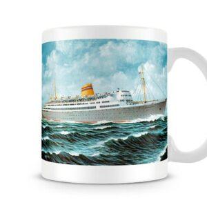 Bergensfjord Cruise Liner At Sea 1956 – Printed Mug