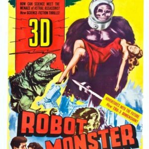 ROBOT MONSTER 01 VINTAGE B-MOVIE REPRODUCTION ART PRINT A4 A3 A2 A1