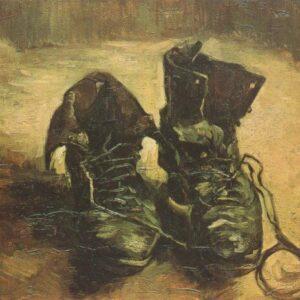 A Pair of Shoes Paris Van Gogh VG280 Reproduction Art Print A4 A3 A2 A1