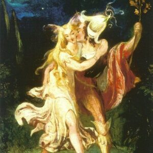 A2 Fairy Lovers Theodore Von Holst 1840 Picture print on Canvas