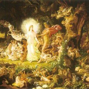 A2 Quarrel Of Oberon And Titania Joseph Noel Paton 1849 Picture print on Canvas
