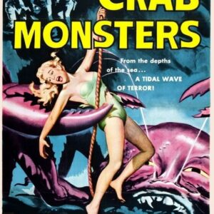 ATTACK OF CRAB MONSTER VINTAGE B-MOVIE REPRODUCTION ART PRINTCANVAS A4 A3 A2 A1