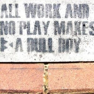 Banksy Street Artist All Work And No Play Print A4 A3 A2 A1