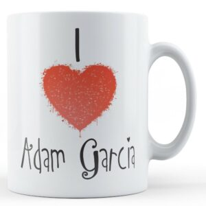 Decorative Writing I Love Adam Garcia – Printed Mug
