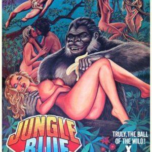 JUNGLE BLUE 01 VINTAGE CLASSIC B-MOVIE REPRODUCTION ART PRINT A4 A3 A2 A1