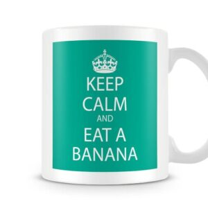 Keep Calm And Eat A Banana Green – Printed Mug