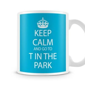 Keep Calm And Go To T In The Park Blue Background – Printed Mug