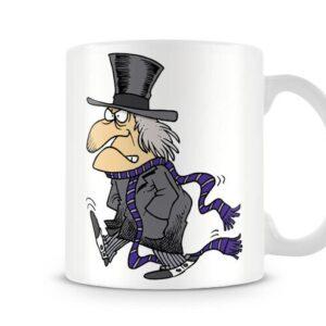 Cartoon Ebenezer Scrooge – Printed Mug