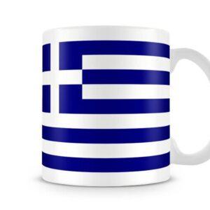 The Greek Flag Both Sides Or Wrapped Around – Printed Mug