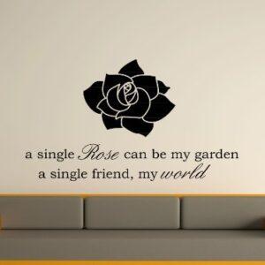 A Single Rose Wall Art Sticker