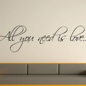 All You Need Is Love Wall Art Sticker