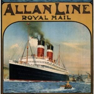 Allan Line To & From Canada Reproduction Vintage Travel Poster VSHIP051 In Various Finishes & Sizes