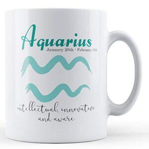 Aquarius Star Sign Meaning – Printed Mug