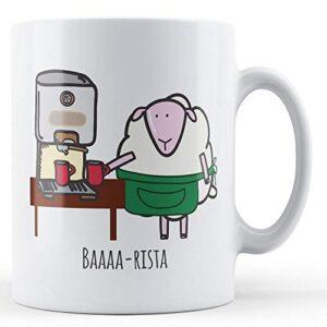 Baaaa-Rista (Barista Sheep) – Printed Mug