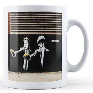 Banksy – Pulp Fiction Bananna – Printed Mug