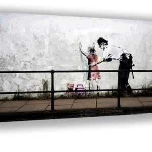 Banksy street art Police Frisk Young Girl Framed Canvas Picture A2 Size Size 16″ X 24″