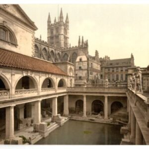Bath, Roman Baths & Abbey – English Photochrome – EPC028 In Various Finishes & Sizes