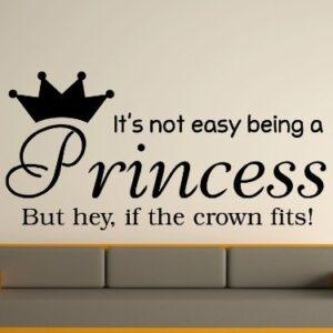 Being A Princess Wall Art Sticker