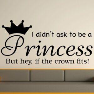 Being A Princess v2 Wall Art Sticker