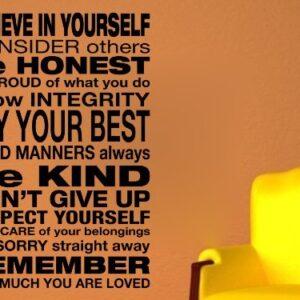 Believe in yourself Wall Art Sticker