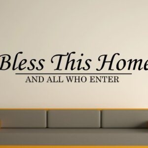 Bless This Home Wall Art Sticker