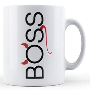 Boss Devil Horns Tail – Printed Mug