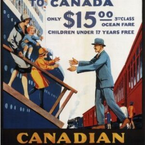 Canadian Pacific Britishers To Canada Reproduction Vintage Travel Poster VSHIP046 Art Print Canvas A4 A3 A2 A1