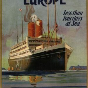 Canadian Pacific Europe Cruise Reproduction Vintage Travel Poster VSHIP011 Art Print Canvas A4 A3 A2 A1
