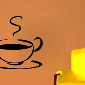 Coffee Cup Wall Art Sticker