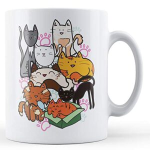Collection Of Cute Cats – Printed Mug