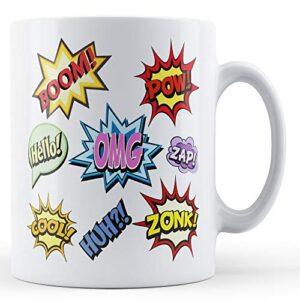 Comic Book Sounds – Printed Mug