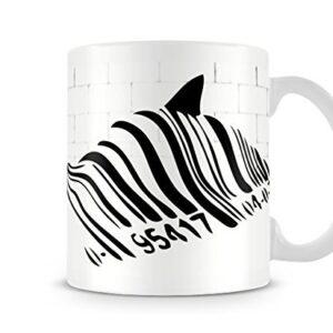 Banksy Barcode Whale Shark – Printed Mug