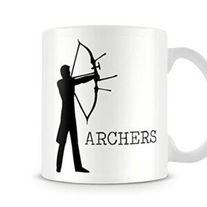Decorative Sports Silhouette – Archers – Printed Mug