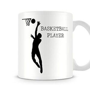 Decorative Sports Silhouette – Basketball Player – Printed Mug