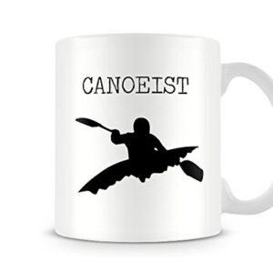 Decorative Sports Silhouette – Canoeist – Printed Mug