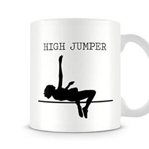 Decorative Sports Silhouette – High Jumper – Printed Mug