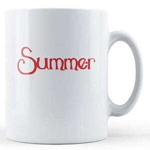 Decorative Summer Season – Printed Mug