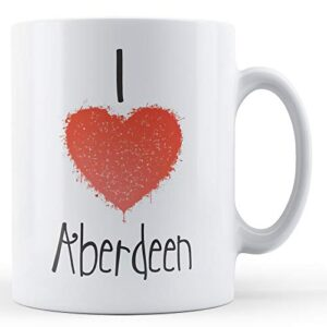 Decorative Writing I Love Aberdeen – Printed Mug