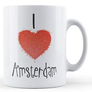 Decorative Writing I Love Amsterdam – Printed Mug