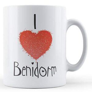 Decorative Writing I Love Benidorm – Printed Mug