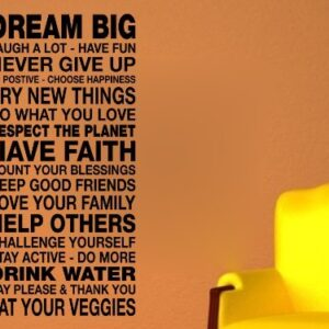 Dream big Wall Art Sticker