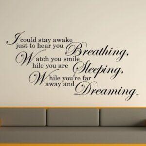Aerosmith Lyrics Wall Art Sticker
