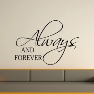 Always and forever Wall Art Sticker