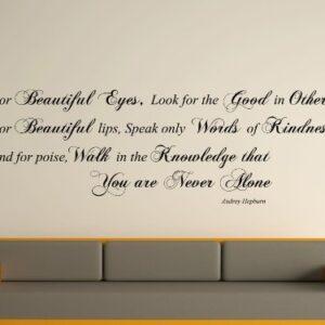 Audrey Hepburn Quote Wall Art Sticker