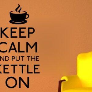 Fingerprints Keep calm put kettle on Wall Art Sticker