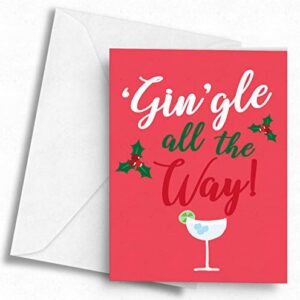 'Gin'gle All The Way! – A5 Greetings Card