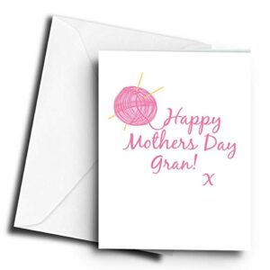 Happy Mothers Day Gran! x Knitting – A5 Greetings Card