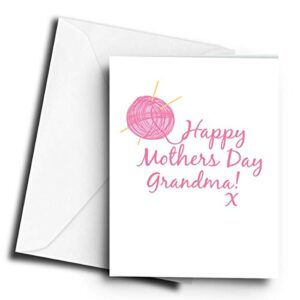 Happy Mothers Day Grandma! x Knitting – A5 Greetings Card